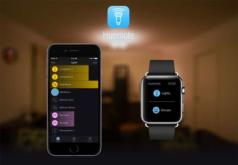 Huemote – The Quick Remote for your Hue Lights
