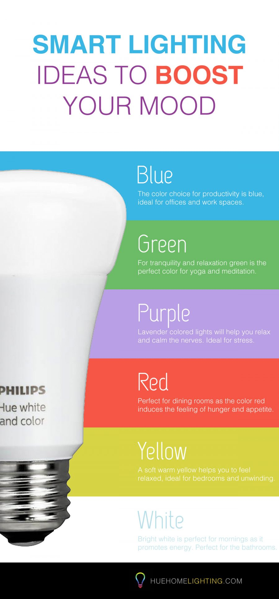 Light colours for your mood Infographic