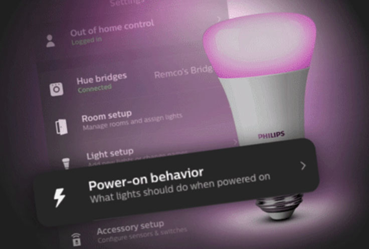Philips Hue New 'Power on Behavior' Feature Added