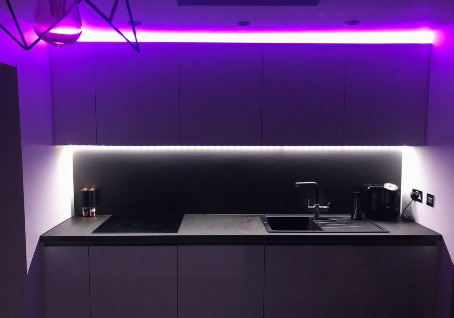 Kitchen Hue set up